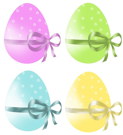 Huevos de Pascua decorados en diferentes Colores