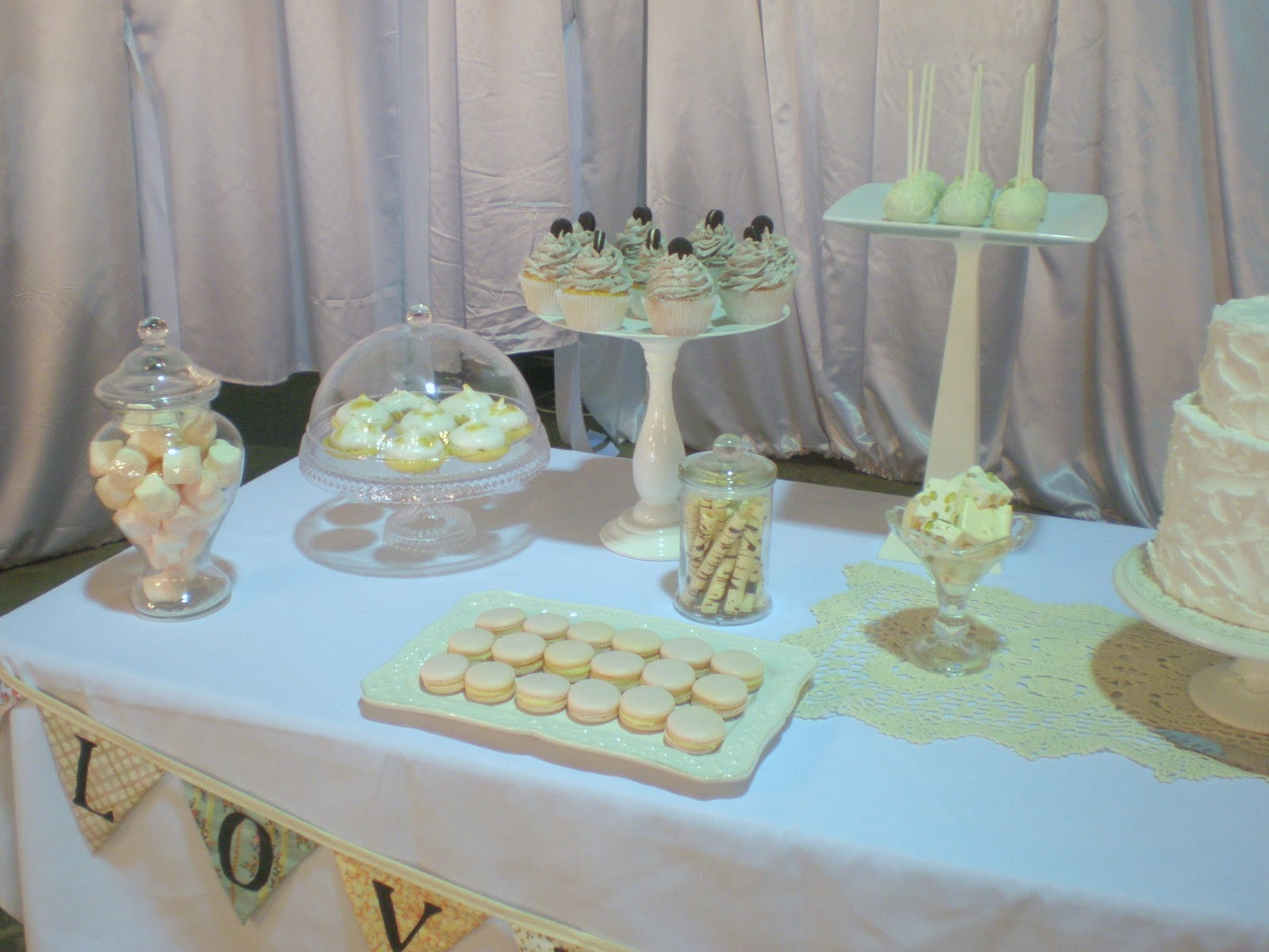 Shabby Chic Wedding Dessert