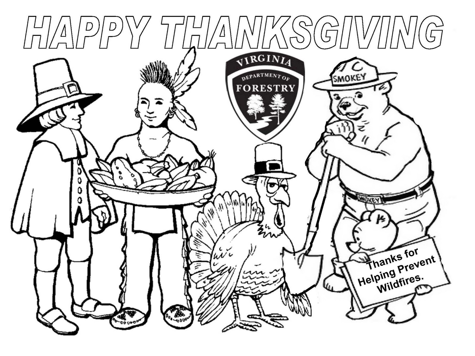 Preschool Coloring Book Thanksgiving Coloring Pages