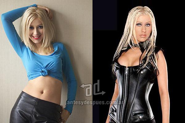 Los pechos operados de Christina Aguilera