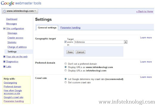 Setting Google Geographic target