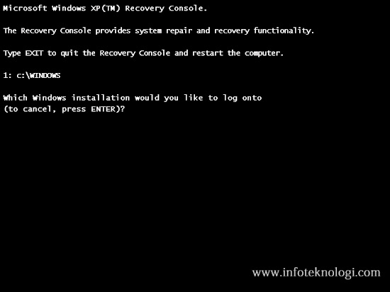 Change motherboard Recovery Console Command Prompt
