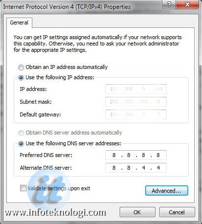 Internet Protocol Version 4 (TCP/IPv4) Properties
