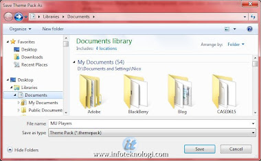 Buat file themepack di windows7