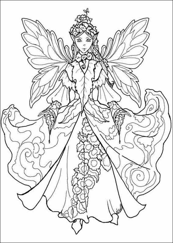 free fairy coloring pages for adults - Amy Brown Fairies Coloring Book