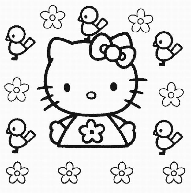 hello kitty printable coloring pages free - Kitty Printable Color Pages