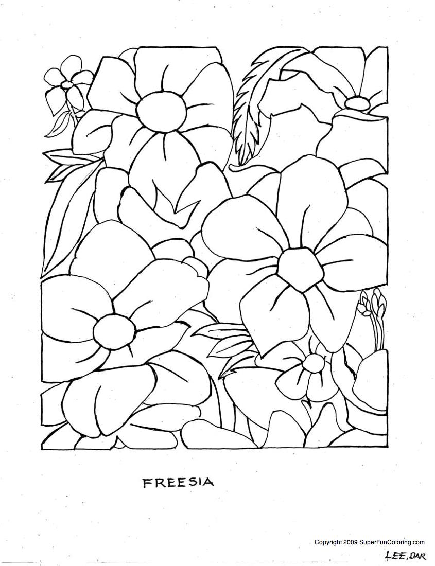free flower coloring pages to print - Coloring Pages For Kids, Flower Parts, Free flower coloring
