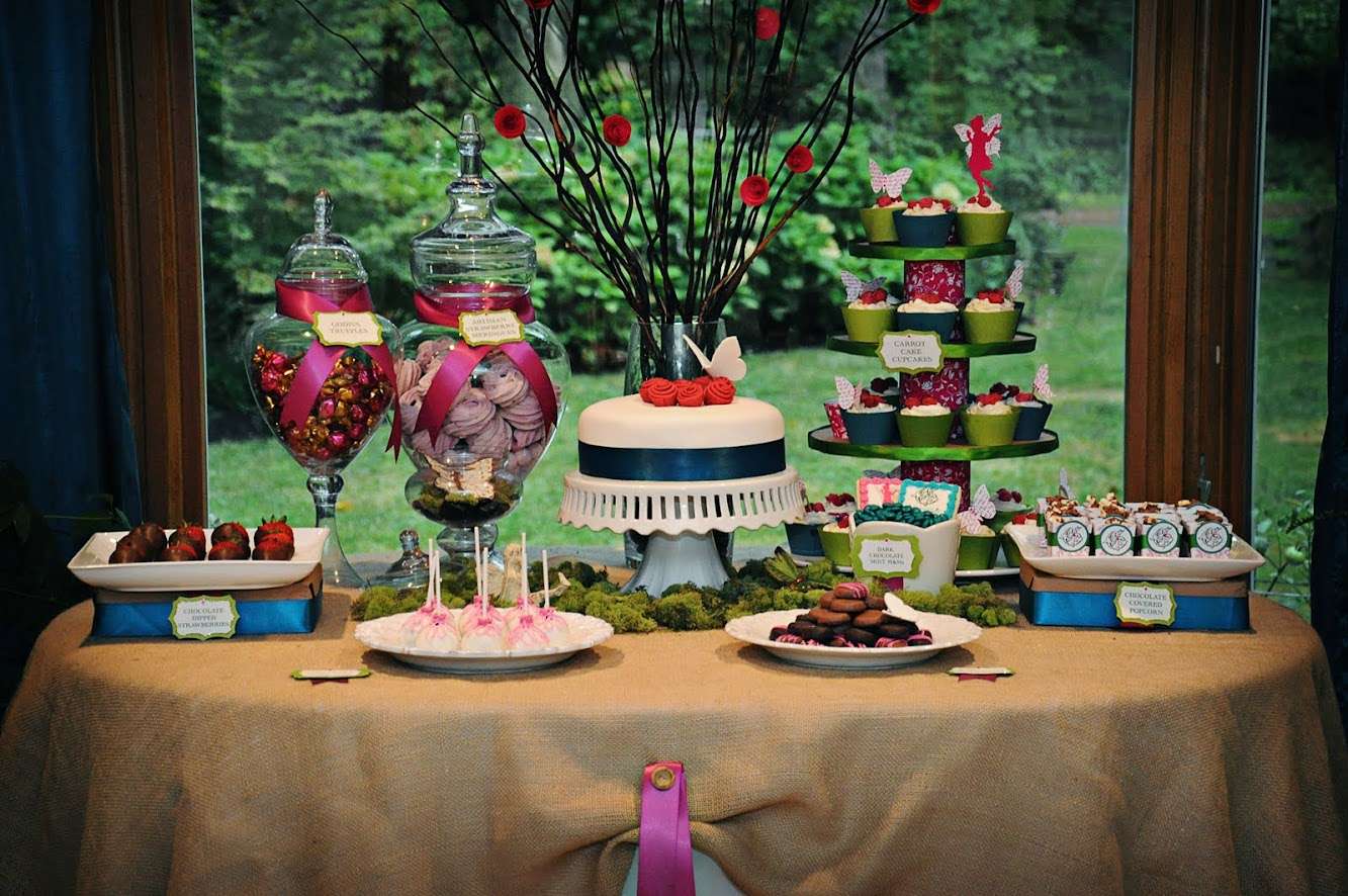 Midsummers Night Fairy Dessert Table