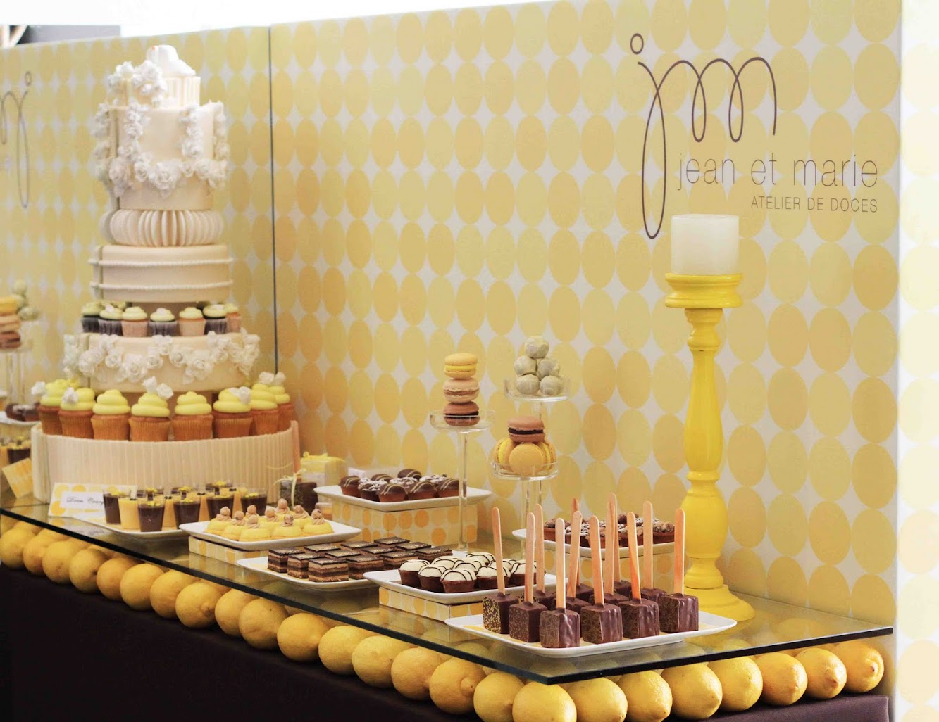 Lemon Wedding Dessert Table