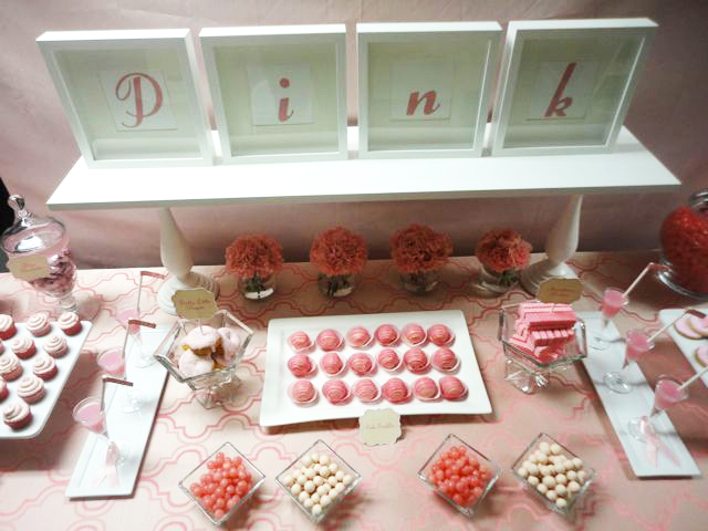Pink Breast Cancer Awarness Dessert Table
