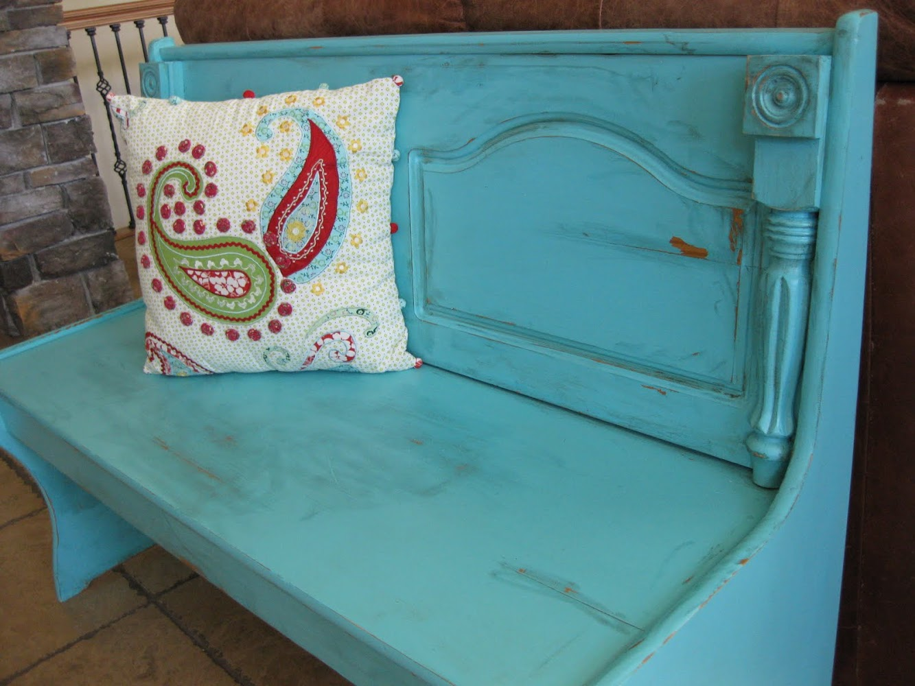 Shabby Church Pew