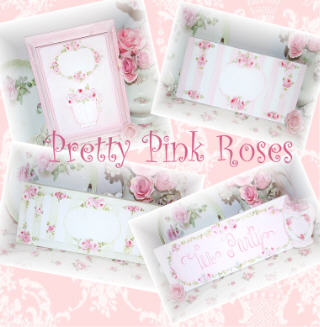 ~ Pretty Fluffy Pink Handpainted Roses ~