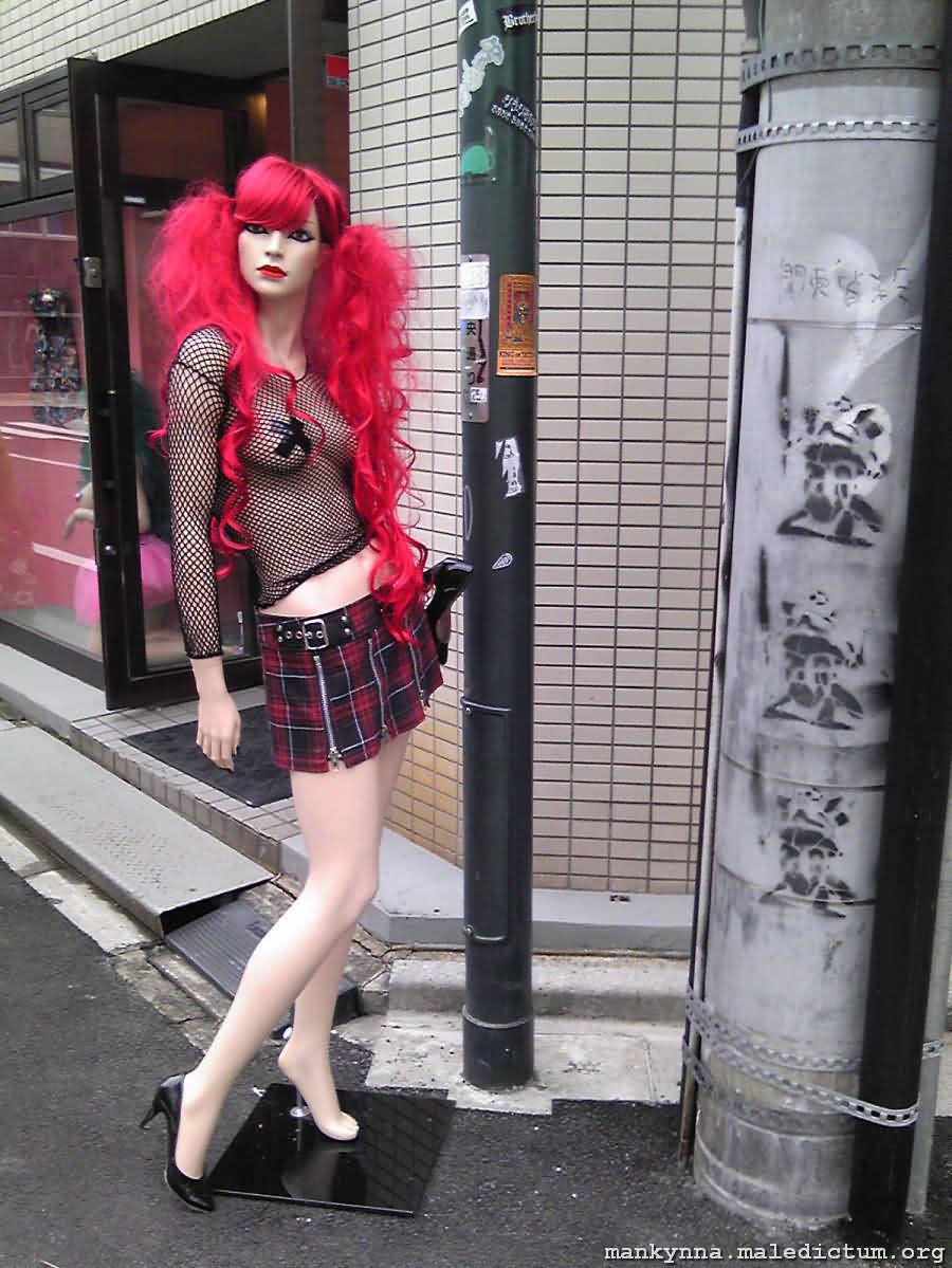 Рыжеволосый манекен