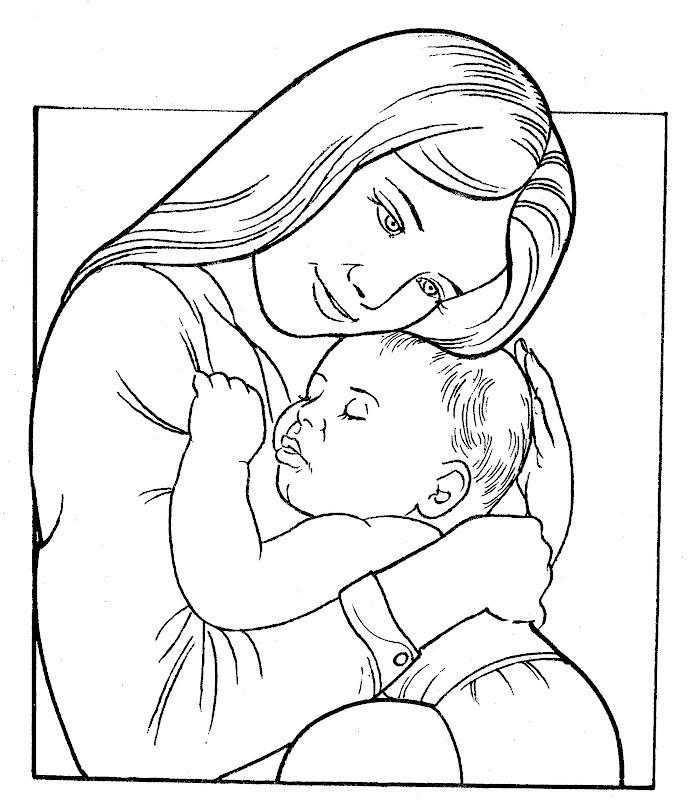 Раскраска мамы с малышами
