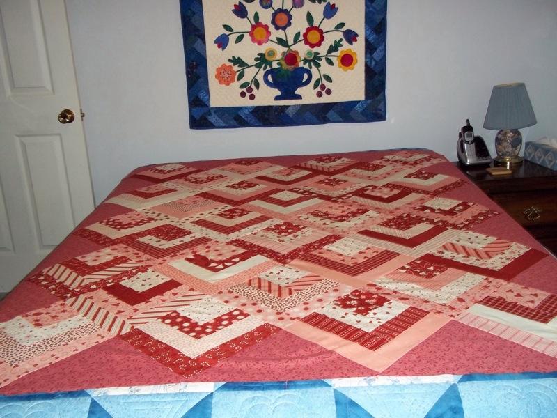 Half Log Cabin – MaryQuilts.com : easy log cabin quilt pattern - Adamdwight.com