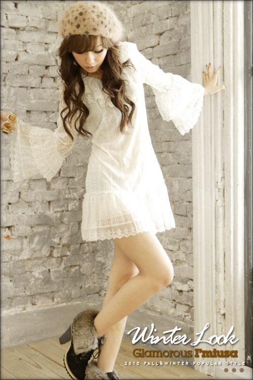 длинное белое кружевное платье купить.