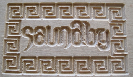 Results of my first gcode program on my microCarve A4 CNC.