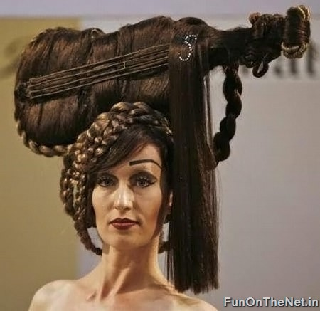 funny and wacky hairstyle