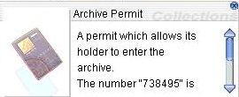 Archive Permit