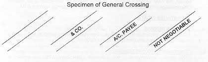 Specimen of General Crossing a Cheque