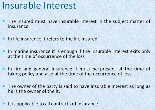 misrepresentation in insurance insurable interest indemnity An insurable interest is a stake in the value of an entity or event for which a person or entity purchases an insurance policy to mitigate the risk of loss insurable interest is a basic .