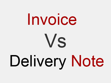 difference between invoice and delivery note distinguish