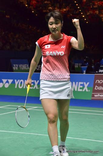 اریکو هیروسه از ژاپن در نیمه نهایی رقابتهای او پن انگلستان 2011