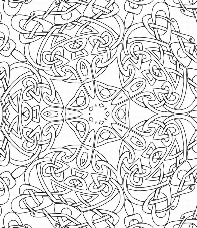 3-D Coloring Book Abstract Patterns Dover Publications - abstract design coloring pages