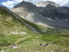 Bivouac au Col de la Vallée Etroite