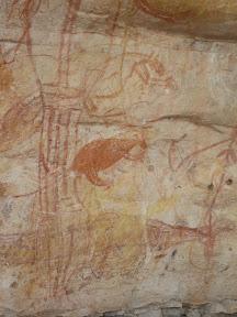 Peinture aborigène -Ubirr rocks