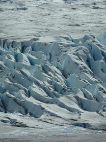 Crevasses du glacier Grey