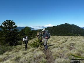 San Sebastian avec le volcan Villarrica en arrière plan