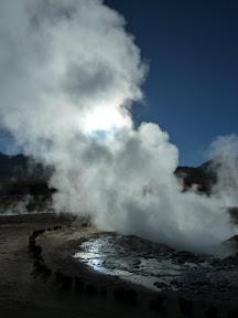 Fumée de geyser