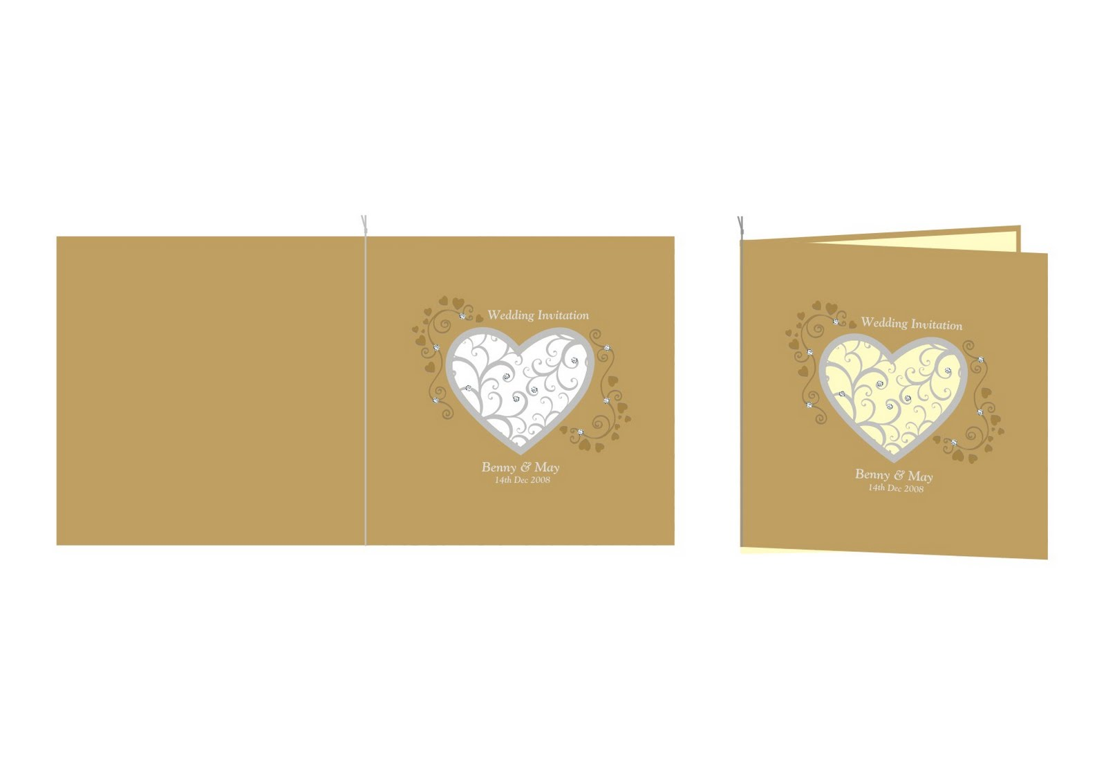 personal wedding cards