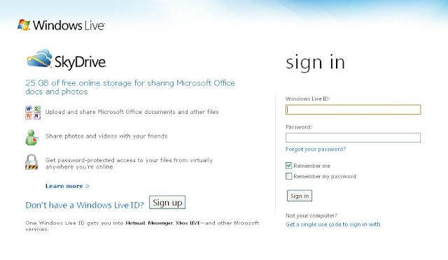 skydrive free online cloud storage
