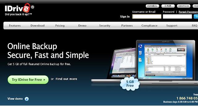 idrive free online cloud storage