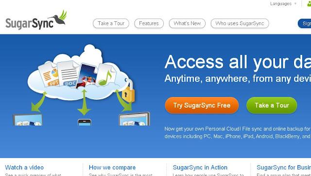 sugarsync free online could storage
