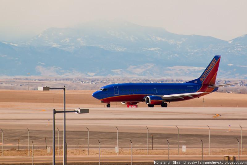 USA Colorado Denver International Airport Southwest Airlines Boeing 737 N900WN США Колорадо Денвер Международный Аэропорт Саусвест Эйрлайнс Боинг 737