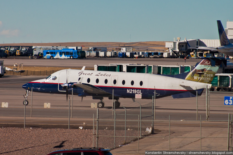USA Colorado Denver International Airport Great Lakes Airlines Beechcraft 1900D N219GL США Колорадо Международный Аэропорт Денвер Грейт Лейкс Великие Озёра Эйрлайнз Бичкрафт 1900Д