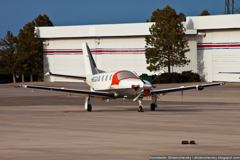 USA Colorado Denver Centennial Airport Tower США Колорадо Денвер Сентенниал Аэропорт APA KAPA Socata TBM-700 N850DX