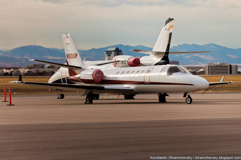 USA Colorado Denver Centennial Airport Tower США Колорадо Денвер Сентенниал Аэропорт APA KAPA Cessna 560 Citation 5 C560/L N150GP