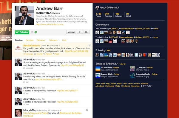 andrew barr twitter feed screenshot