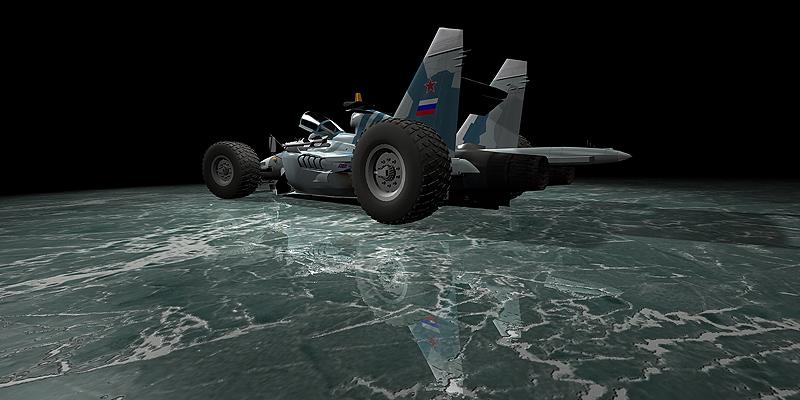 болид Sukhoi F1 car 4