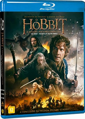 Filme Poster O Hobbit: A Batalha dos Cinco Exércitos BDRip XviD Dual Audio & RMVB Dublado
