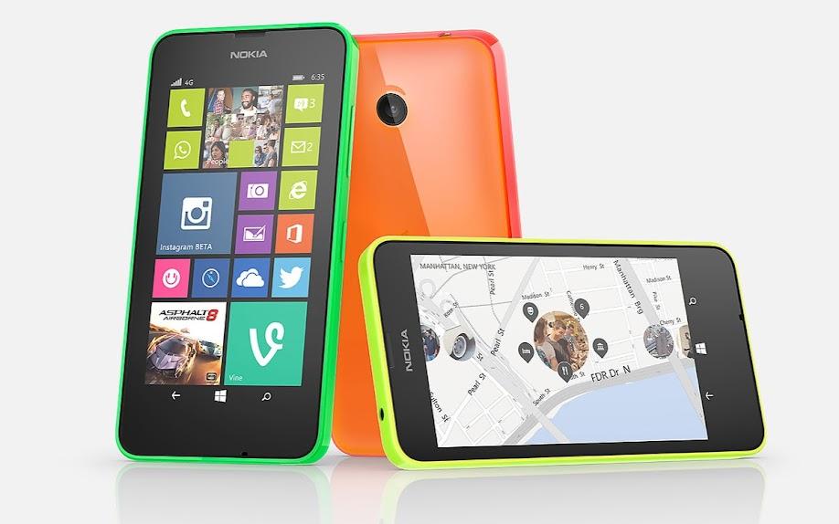 Nokia Lumia 635 - Spesifikasi Lengkap dan Harga
