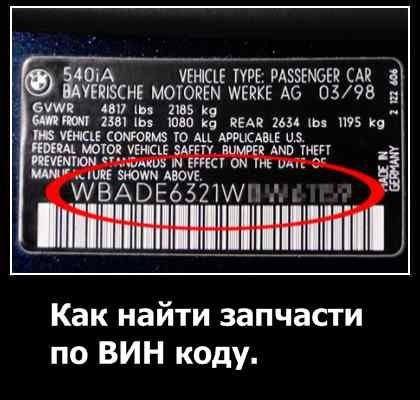 Запчасти по вину автомобиля в москве