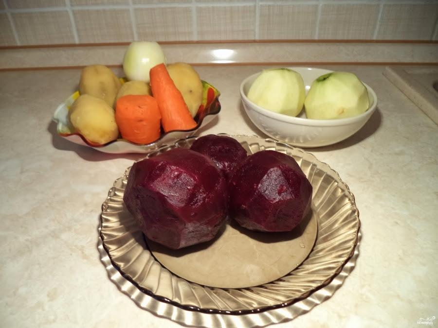 Винегрет с яблоком рецепт с фото