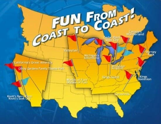 Cedar Fair Parks Map World Map 07
