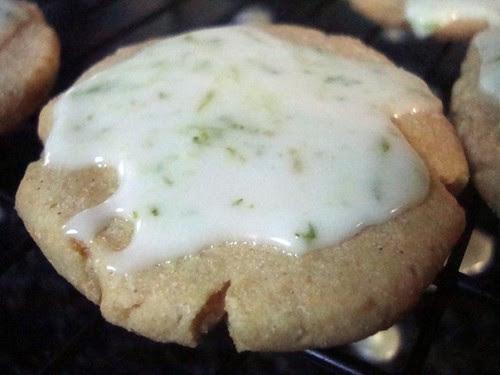 Lime-Glazed Cornmeal Cookies