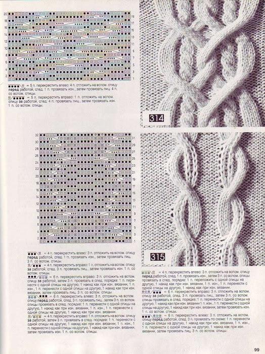 Схема вязания спицами косичкой 68